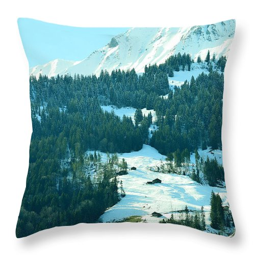 Alps Throw Pillow featuring the photograph On The Rock by Felicia Tica