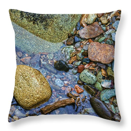 Rocks Throw Pillow featuring the photograph On The Rocks by Heather Applegate