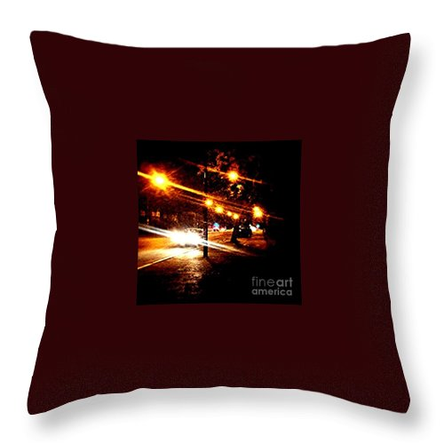Night Throw Pillow featuring the photograph On The Way Home Tonight by Abbie Shores