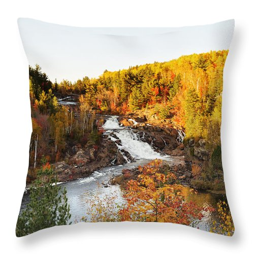Onaping Falls Throw Pillow featuring the photograph Onaping Falls by Tanya Harrison