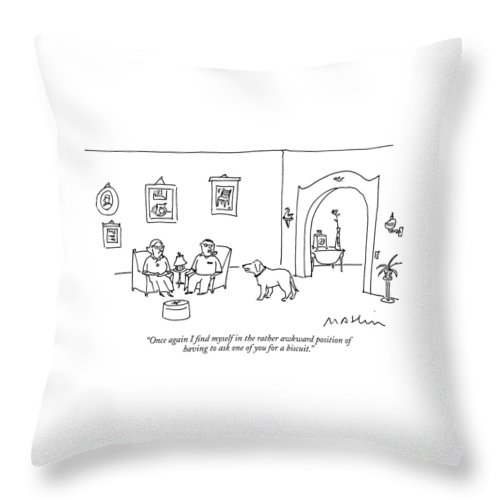 Once Again I Find Myself In The Rather Awkward Throw Pillow