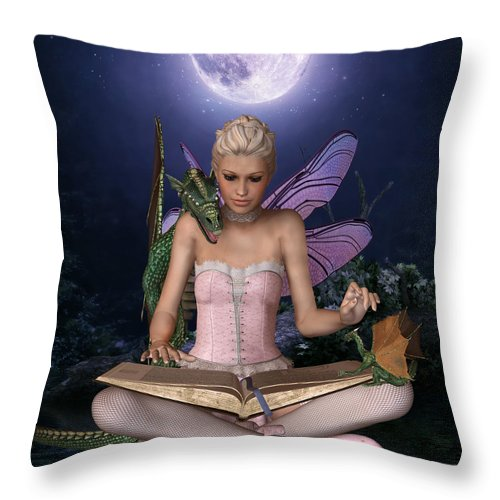 Fantasy Throw Pillow featuring the digital art Once Upon A Time There Was . . . by David Griffith