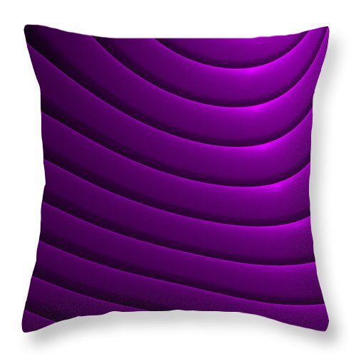Curve Throw Pillow featuring the digital art Ondulation-01 by RochVanh