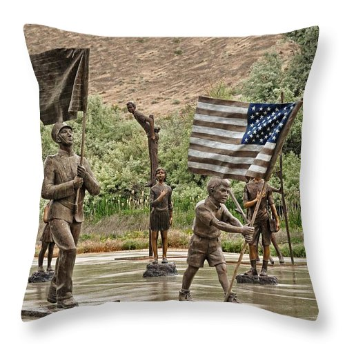 Melba Throw Pillow featuring the photograph One Nation Under God by Image Takers Photography LLC