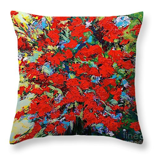 Landscape Throw Pillow featuring the painting One Of A Kind by Allan P Friedlander