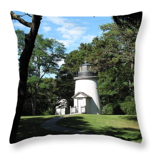 three Sisters Throw Pillow featuring the photograph One Of Three Sisters by Barbara McDevitt