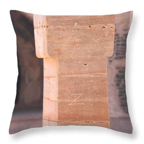 Palace Throw Pillow featuring the photograph One Pillar by Four Hands Art