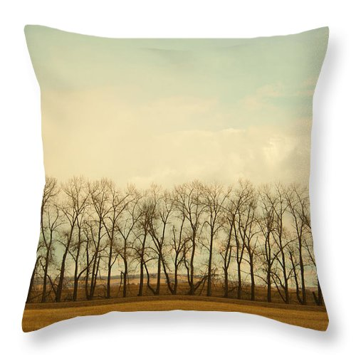 #nature Throw Pillow featuring the photograph One Season by Jacquelinemari