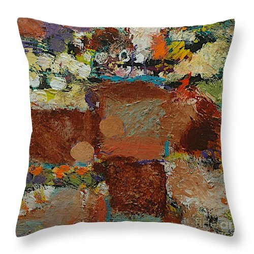 Landscape Throw Pillow featuring the painting One Way by Allan P Friedlander