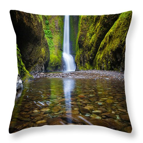 America Throw Pillow featuring the photograph Oneonta Falls by Inge Johnsson