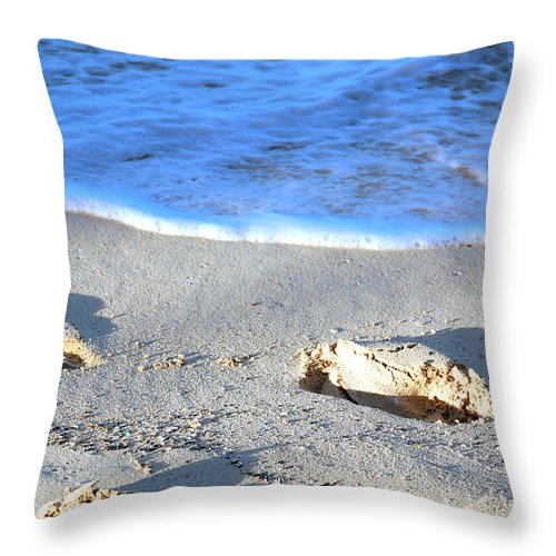 Sand Throw Pillow featuring the photograph Ooops. Sorry. by Flamingo Graphix John Ellis