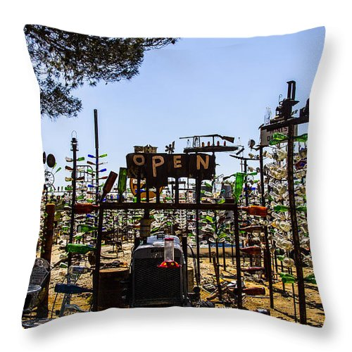 Bottleneck Ranch Throw Pillow featuring the photograph Open by Angus Hooper Iii
