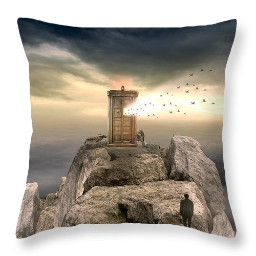 Vintage Throw Pillow featuring the photograph Open Sea by Mark Ashkenazi