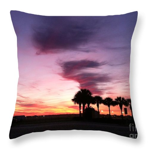 Landscape Throw Pillow featuring the photograph Opening Day by Melissa Darnell Glowacki