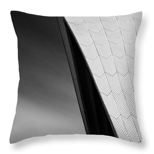 Sydney Opera House Throw Pillow featuring the photograph Opera House by Dave Bowman