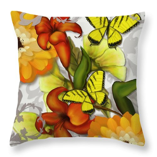 Orange Throw Pillow featuring the painting Orange Delight by Nancy Long