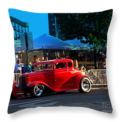 Acrylic Prints Throw Pillow featuring the photograph Orange Rod by Bobbee Rickard