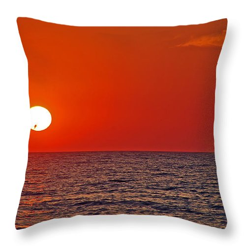 Sunset Throw Pillow featuring the photograph Orange Sunset by Aimee L Maher ALM GALLERY