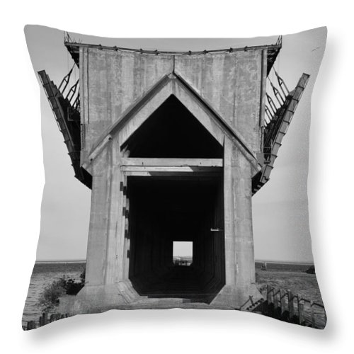 Marquette Throw Pillow featuring the photograph Ore Dock Marquette Michigan by Michelle Calkins