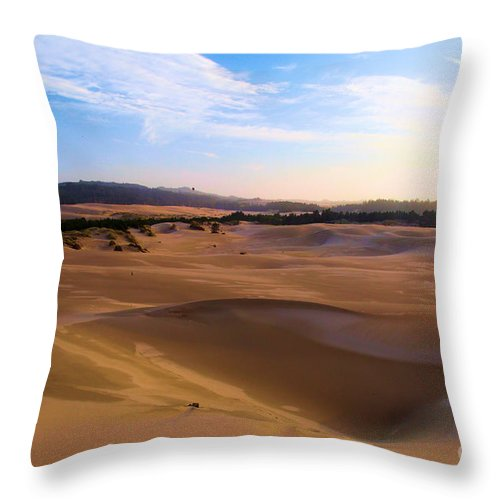 Oregon Dunes Throw Pillow featuring the photograph Oregon Dunes Landscape by Adam Jewell