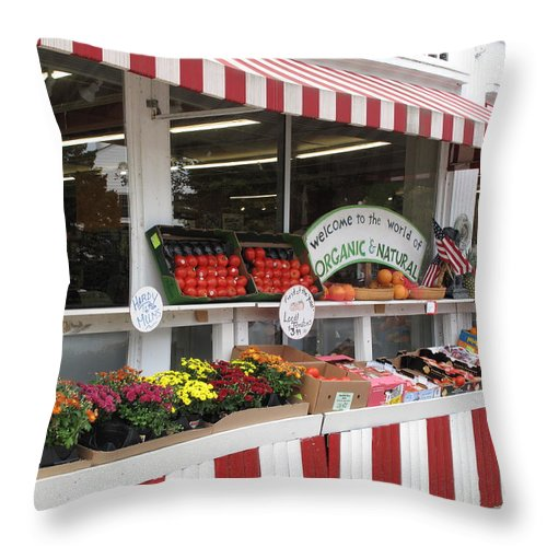 Produce Throw Pillow featuring the photograph Organic And Natural by Barbara McDevitt