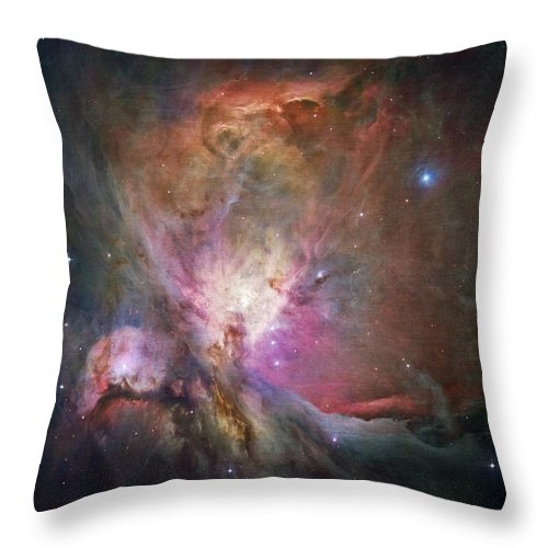 Orion Nebula Throw Pillow featuring the photograph Space Hollywood 2 - Orion Nebula by Marianna Mills
