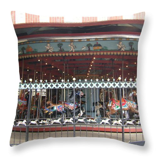 Wrought Iron Fence Throw Pillow featuring the photograph Ornamental Fence by Barbara McDevitt