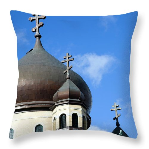 Outdoors Throw Pillow featuring the photograph Orthodox Church by Snap Decision