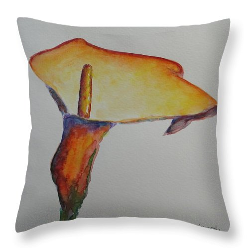 Ostara Throw Pillow featuring the painting Ostara by Shannon Grissom