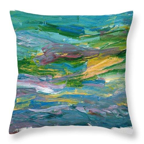 Abstract Throw Pillow featuring the painting Osterlen by Bjorn Sjogren