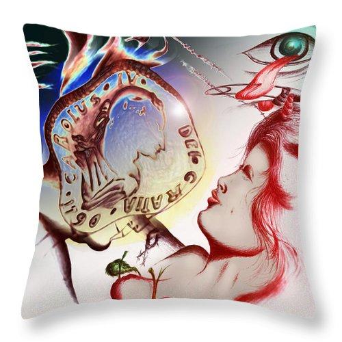 Angels Throw Pillow featuring the digital art Otras Gomorras by Ruben Santos