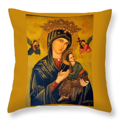 Mother Throw Pillow featuring the photograph Our Mother Of Perpetual Help Rome by Jay Milo