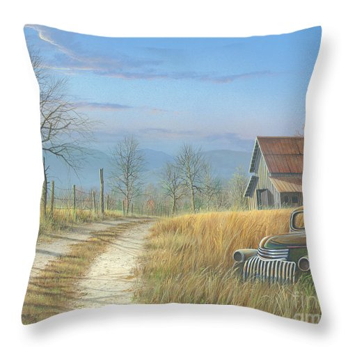 Landscape Throw Pillow featuring the painting Our Time Has Come And Gone by Mike Brown