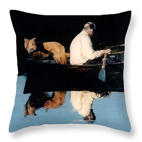 Susan Throw Pillow featuring the photograph Out For A Boat Ride by Susan Crossman Buscho