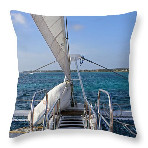 Sail Throw Pillow featuring the photograph Out For A Sail by Carolyn Stagger Cokley