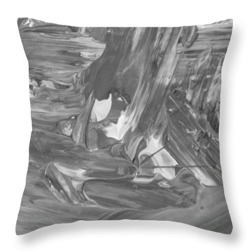 Throw Pillow featuring the painting Out Kash by Artist Ai