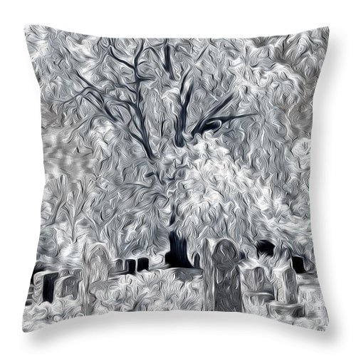 Cemetery Throw Pillow featuring the photograph Out-lived Death by Paul W Faust - Impressions of Light
