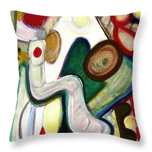 Abstract Art Throw Pillow featuring the painting Out Of My Being by Stephen Lucas