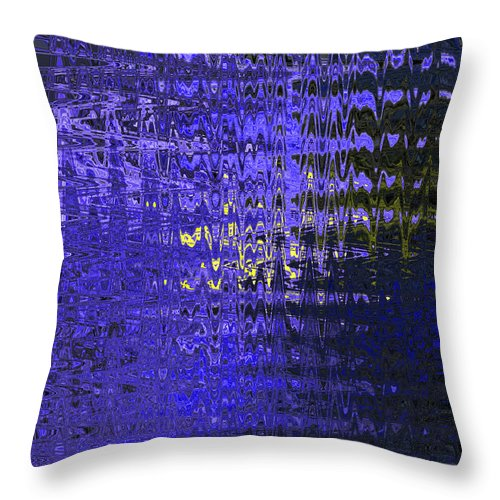 Abstract Throw Pillow featuring the digital art Out Of The Blue by John Saunders