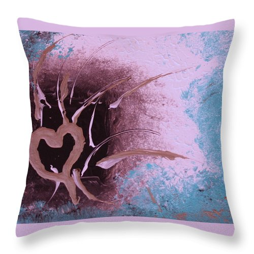 Modern Abstract Throw Pillow featuring the painting Out Of The Box by Shelly Sexton