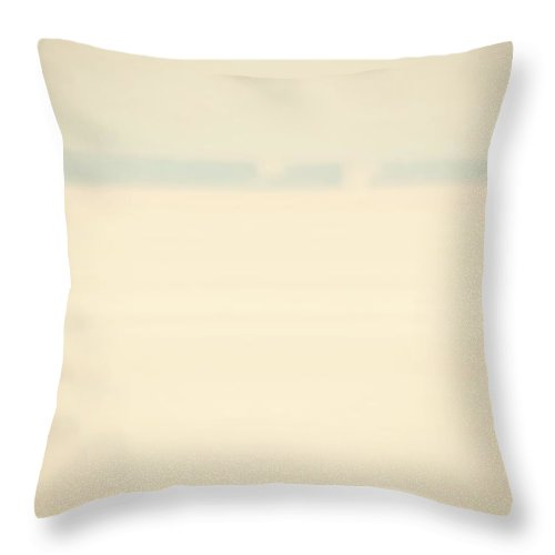 Straits Of Mackinac Throw Pillow featuring the photograph Out Of The Fog by Marysue Ryan
