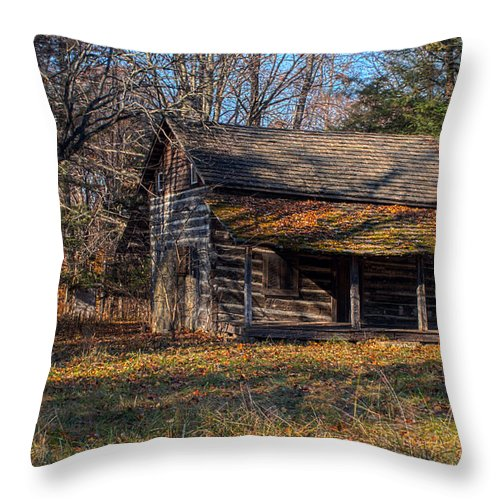 Cabin Throw Pillow featuring the photograph Out Of The History Book by Thomas Sellberg