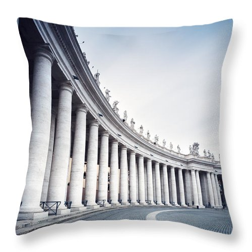 Colonnade Throw Pillow featuring the photograph Out Of Time by Matteo Colombo