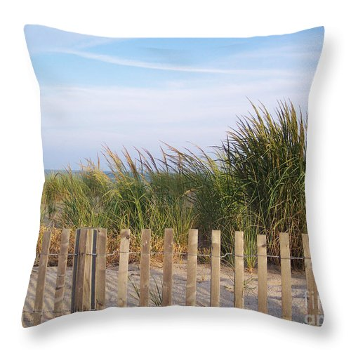 Dunes Throw Pillow featuring the photograph Out Past The Dunes by IE Rowe