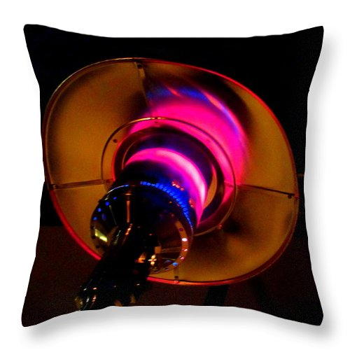 Outdoor Heater Throw Pillow featuring the photograph Outdoor Heater Pink by Randall Weidner