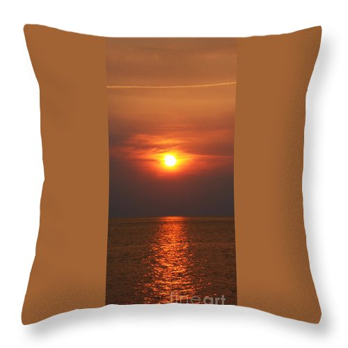 Hatteras Throw Pillow featuring the photograph Outer Banks Sunset by Tony Cooper