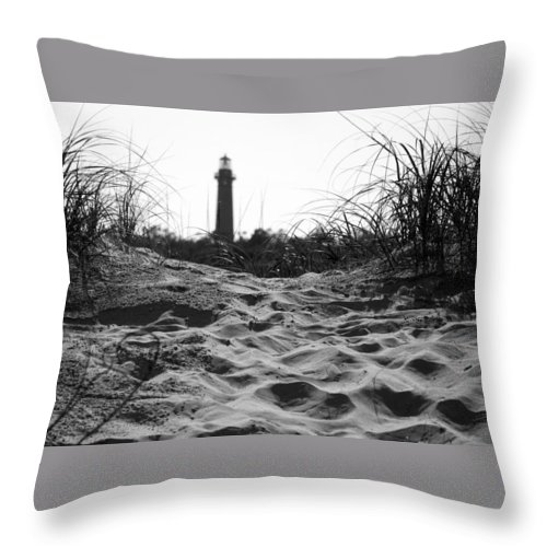 Lighthouse Throw Pillow featuring the photograph Over The Dune by IMH Photog