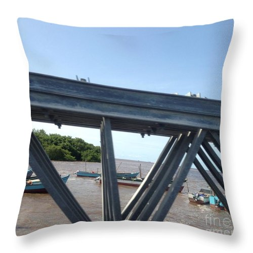 Landscape Throw Pillow featuring the photograph Over The Other Side by Denise Simpson