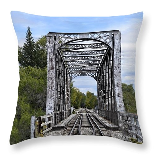 Idaho Falls Throw Pillow featuring the photograph Over The River by Image Takers Photography LLC