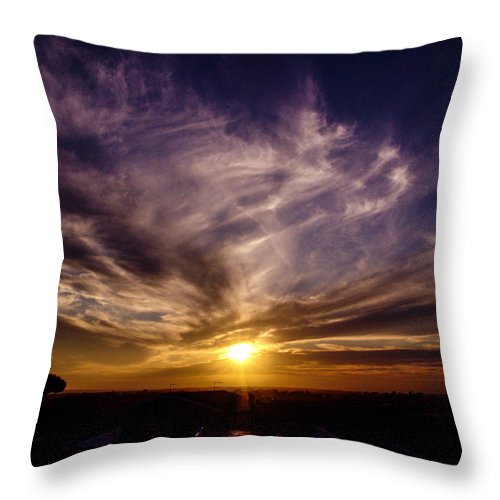 Landscape Throw Pillow featuring the photograph ...over There... by Alessandro Della Pietra